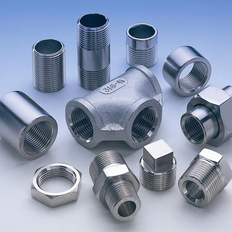 Super Duplex Steel S32750 / S32760 Threaded Forged Fittings